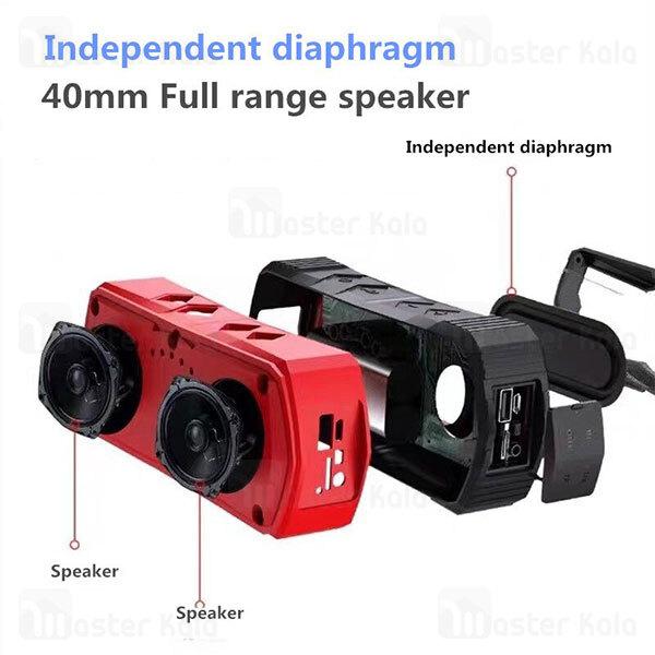 اسپیکر بلوتوث دبلیو کینگ W-King S19 Portable Bluetooth Speaker توان 10 وات رم و فلش خور