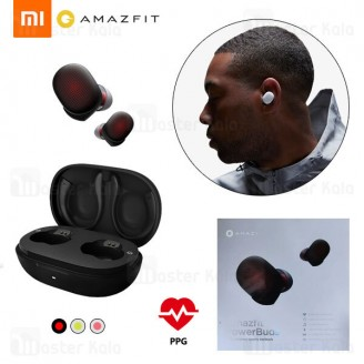 هندزفری بلوتوث دوگوش شیائومی Xiaomi Amazfit PowerBuds Bluetooth Earbuds با قابلیت سنجش ضربان قلب