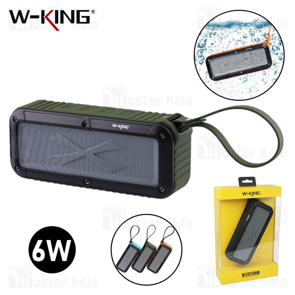 اسپیکر بلوتوث ضد آب دبلیو کینگ W-King S20 Wireless Speaker رم خور