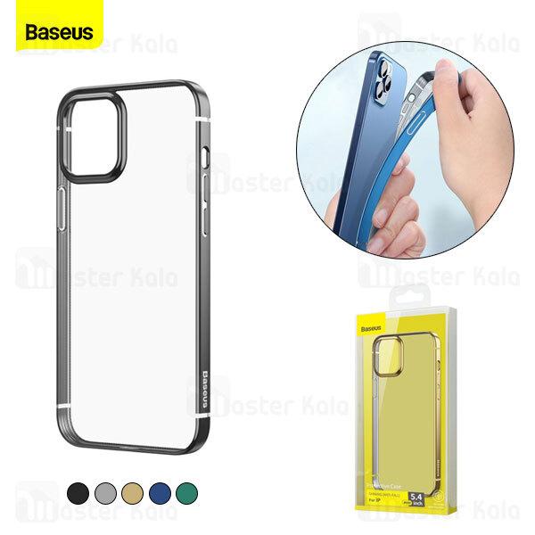 قاب بیسوس آیفون Apple iPhone 12 Mini Baseus Shining Anti-Fall Case ARAPIPH54N-MD01