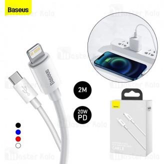 کابل لایتنینگ به Type C فست شارژ بیسوس Baseus iP Cable CATLYS-C01 طول 2 متر و توان 20 وات