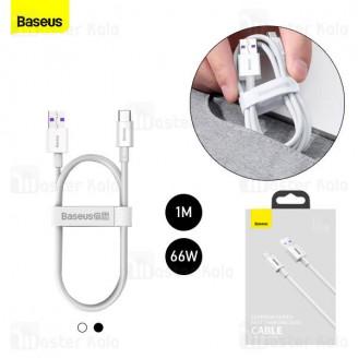 کابل Type C فست شارژ بیسوس Baseus Superior Series USB to Type-C CATYS-01 طول 1 متر و توان 66 وات