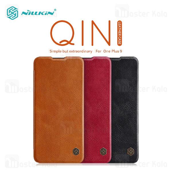 کیف چرمی نیلکین وان پلاس OnePlus 9 (CN/IN) Nillkin Qin Leather Case