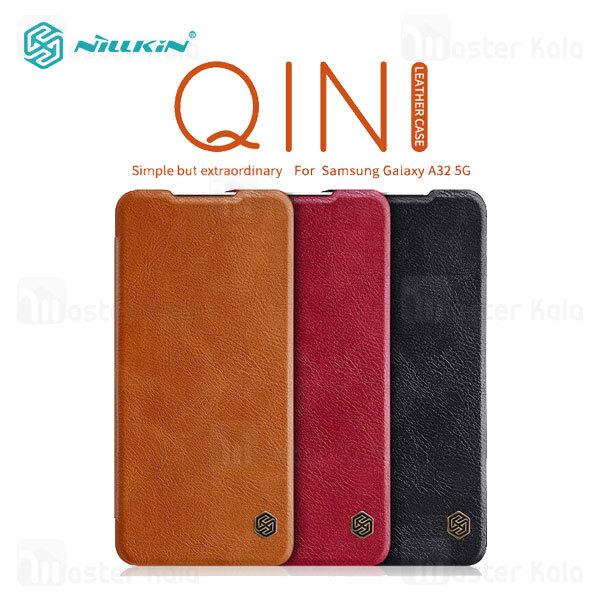 کیف چرمی نیلکین سامسونگ Samsung Galaxy A32 5G Nillkin Qin Leather Case