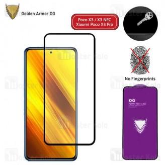 محافظ صفحه شیشه ای تمام صفحه تمام چسب OG شیائومی Xiaomi Poco X3 / X3 NFC / X3 Pro OG 2.5D Glass
