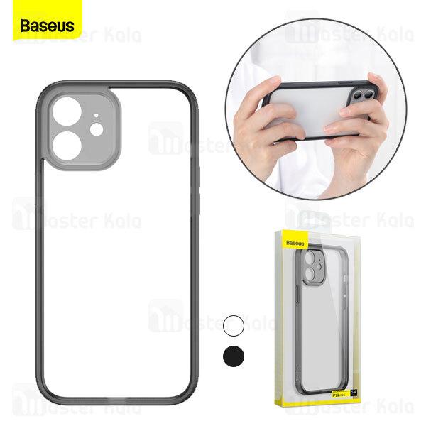 بامپر بیسوس آیفون Apple iPhone 12 Mini Baseus Camera Lens Protector Frame Case FRAPIPH54N-01