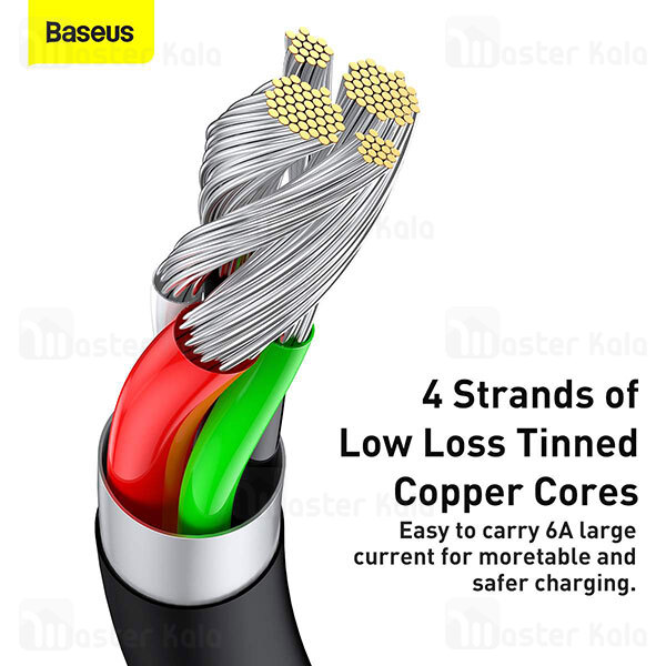 کابل Type C فست شارژ بیسوس Baseus Superior Series USB to Type-C CATYS-A01 طول 2 متر و توان 66 وات