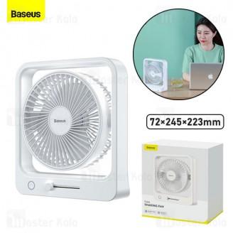 پنکه رومیزی بی سیم بیسوس Baseus Cube Shaking Fan 5400mAh CXMF-02