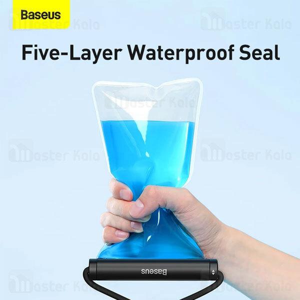 کیف ضد آب بیسوس Baseus Cylinder Slide-cover Waterproof Bag ACFSD-E01 دارای بند آویز