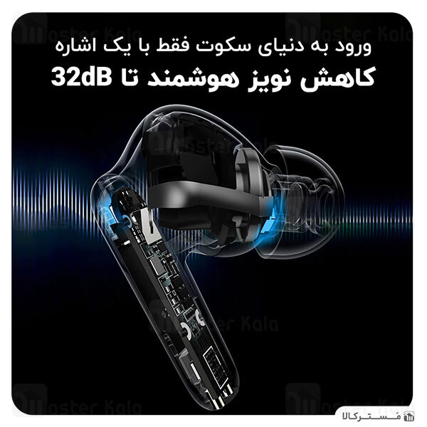 هندزفری بلوتوث دوگوش بیسوس Baseus S2 SIMU ANC TWS Bluetooth Earphones NGS2-0G