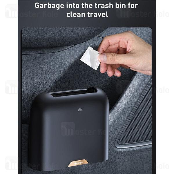 سطل زباله هوشمند بیسوس Baseus Smart Cleaner Trash Can CRLJT01-01 مناسب اتومبیل همراه 120 کیسه زباله
