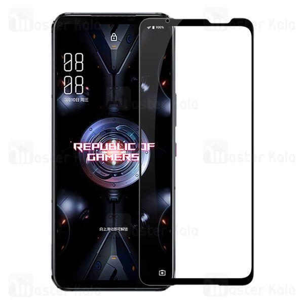 محافظ صفحه نمایش شیشه ای تمام صفحه تمام چسب نیلکین Asus ROG Phone 5 Nillkin CP+ Pro