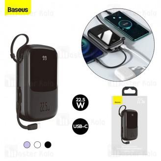پاوربانک 20000 بیسوس Baseus Qpow Digital Display PPQD-I01 توان 22.5 وات همراه با کابل متصل تایپ سی