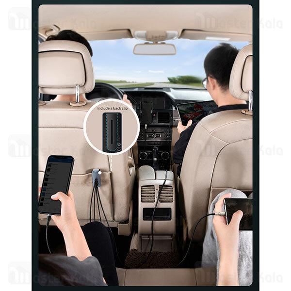 شارژر فندکی بیسوس Baseus Share Together CCBX-120C2 CCBT-A0G Car Charger دارای 4 پورت و توان 120 وات