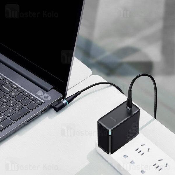 کابل شارژر مگنتی لپ تاپ لنوو بیسوس Baseus Zinc Lenovo Type C to DC CATXC-U01 طول 2 متر توان 100 وات