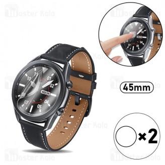 پک 2تایی محافظ نانو ساعت هوشمند سامسونگ Samsung Galaxy Watch 3 45mm TPU Screen Protector 2Pcs