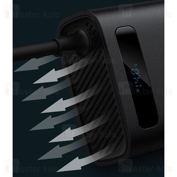 چند راهی بیسوس Baseus In-car Inverter 150W CRNBQ-A01 EU CN Plug 220V ولتاژ 220 ولت