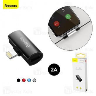 کابل تبدیل لایتنینگ اتصال همزمان هندزفری لایتنینگ و شارژر Baseus L46 Dual iP Adapter CAL46-01