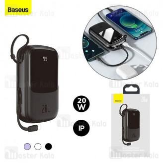 پاوربانک 20000 بیسوس Baseus Qpow Digital Display PPQD-H01 توان 20 وات همراه با کابل متصل لایتنینگ