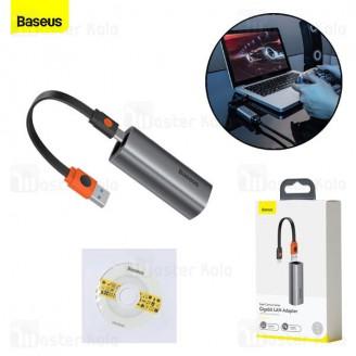 کابل تبدیل USB و Type C به LAN بیسوس Baseus Steel Cannon Bidirectional LAN Adapter CAHUB-AF0G