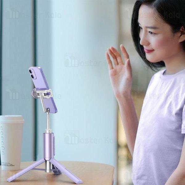 مونوپاد و سه پایه شاتر دار بیسوس Baseus Traveler Bluetooth Tripod Selfie Stick ZPBL000002