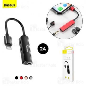 کابل تبدیل Lightning اتصال همزمان هندزفری و شارژر Baseus Audio Converter CALL52-01