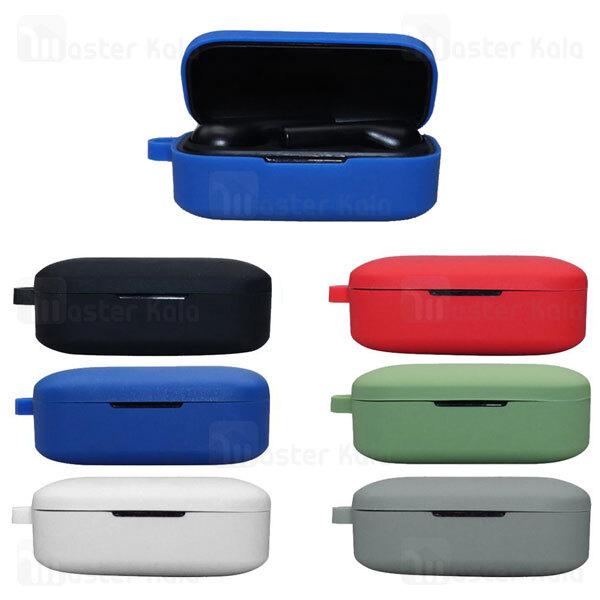 کاور محافظ سیلیکونی هندزفری کیو سی وای QCY T5 Earphone Silicone Case دارای قلاب آویز