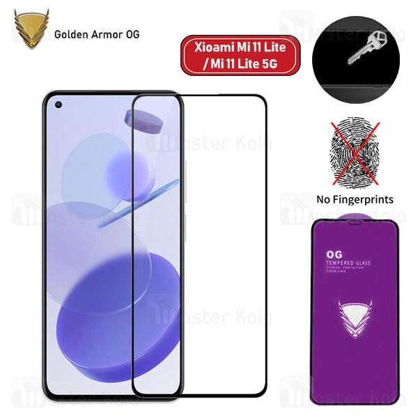 محافظ صفحه شیشه ای تمام صفحه تمام چسب OG شیائومی Xiaomi Mi 11 Lite / Mi 11 Lite 5G OG 2.5D Glass