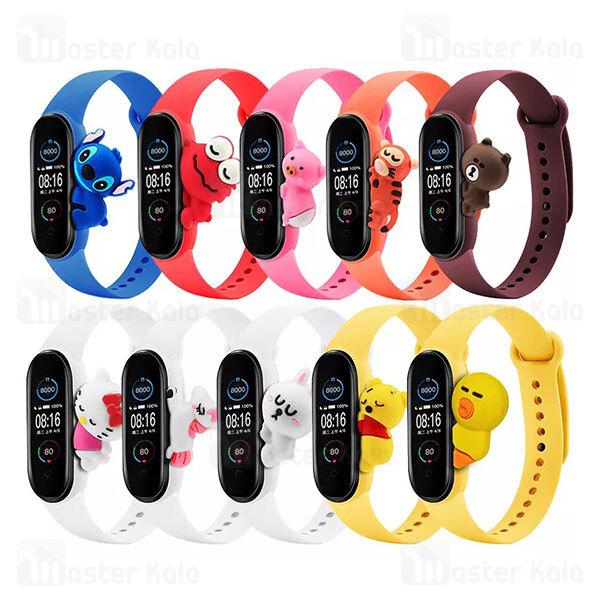 بند سیلیکونی فانتزی دستبند سلامتی شیائومی Xiaomi Mi Band 5 / 6 Cute Strap Silicone Band