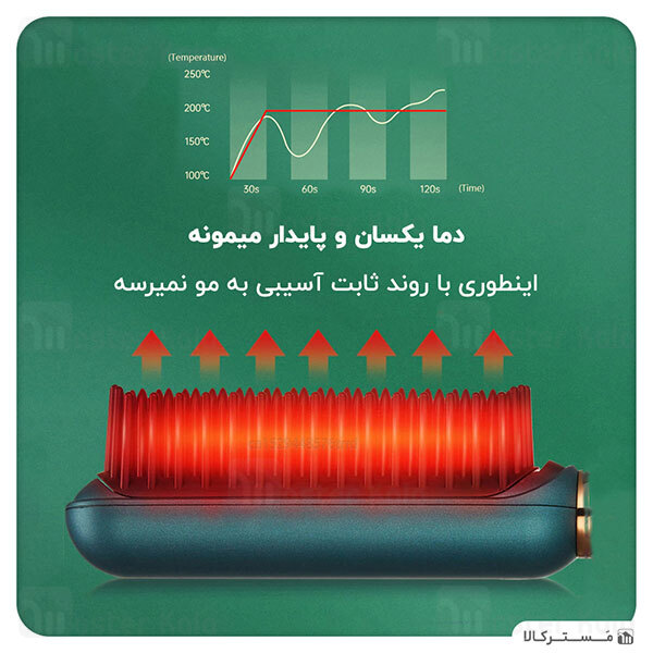 برس حرارتی صاف کننده و فر کننده مو شیائومی Xiaomi inFace ION Hairbrush ZH-10D