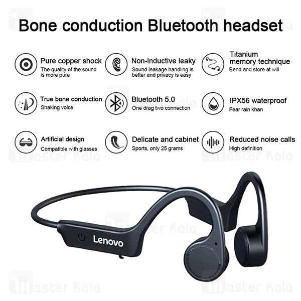 هندزفری بلوتوث القایی لنوو Lenovo X4 Bone Conduction IP56