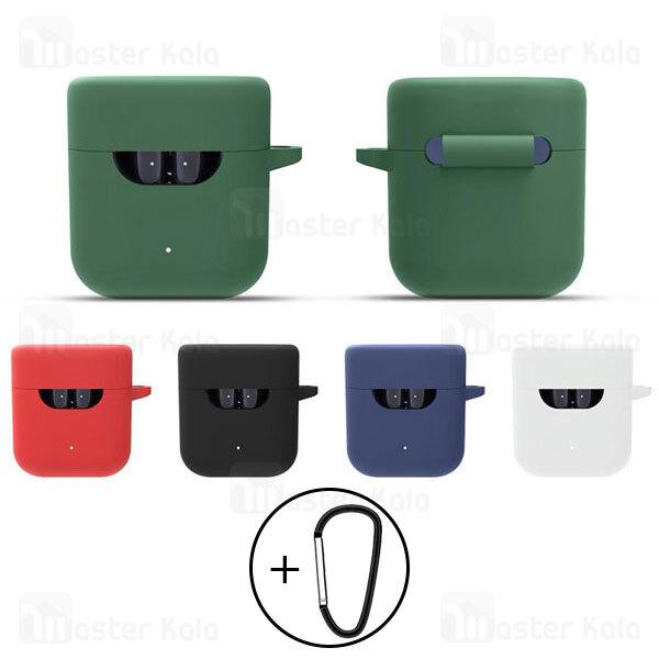 کاور محافظ سیلیکونی هندزفری کیو سی وای QCY T12 / T12S Earphone Silicone Case دارای قلاب آویز