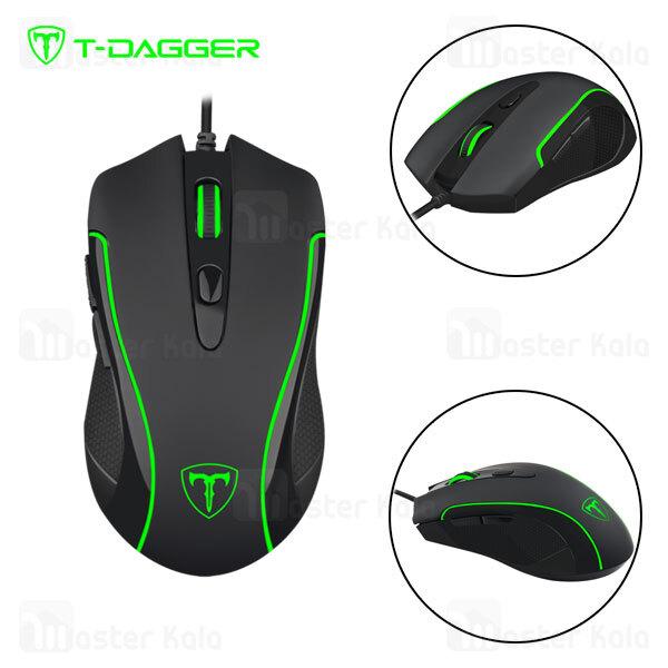 موس سیمی گیمینگ T-Dagger Private T-TGM106 Gaming Mouse دارای 6 کلید