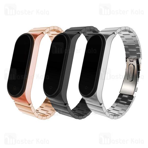 بند فلزی دستبند سلامتی شیائومی Xiaomi Mi Band 5 / 6 One Bead Link Wrist Strap
