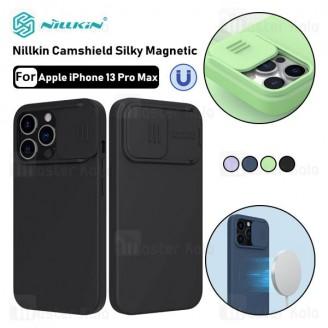قاب سیلیکونی مگنتی نیلکین Apple iPhone 13 Pro Max Nillkin CamShield Silky Magnet دارای محافظ دوربین