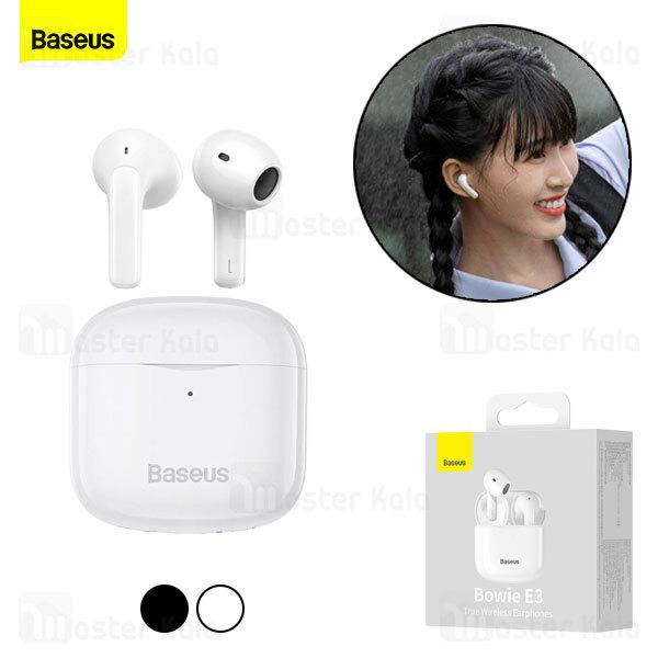 هندزفری بلوتوث دوگوش بیسوس Baseus E3 Bowie Hi-Fi True Wireless Earphones NGTW080001