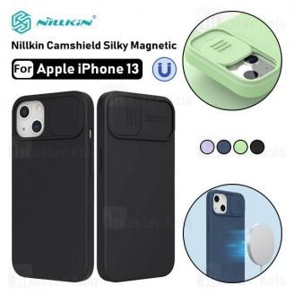 قاب سیلیکونی مگنتی نیلکین آیفون Apple iPhone 13 Nillkin CamShield Silky Magnetic دارای محافظ دوربین