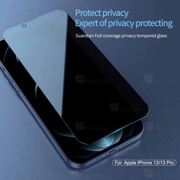 گلس حریم شخصی تمام صفحه تمام چسب آیفون Apple iPhone 13 / iPhone 13 Pro Nillkin Guardian Privacy