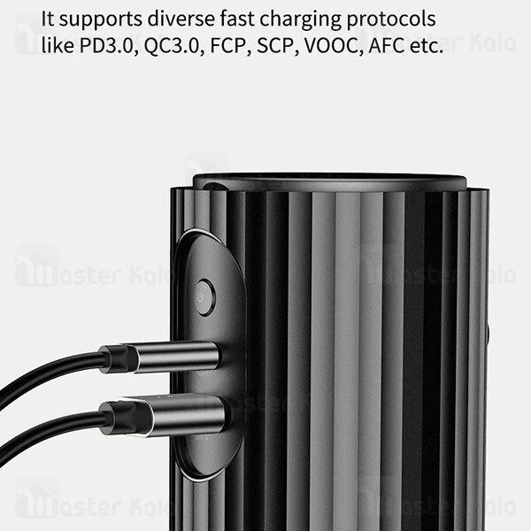 شارژر فندکی فست شارژ راک Rock RCC0158 PD Car Inverter توان 110 وات دارای پریز