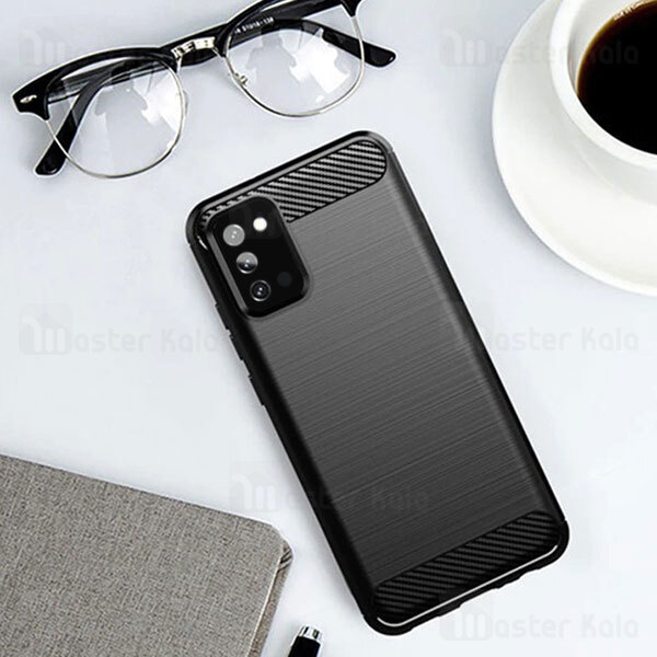 قاب محافظ ژله ای سامسونگ Samsung Galaxy A03S Rugged Armor Fiber Carbon