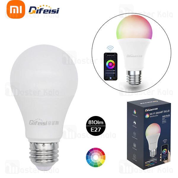 لامپ هوشمند شیائومی Xiaomi Difeisi Wi-Fi Smart Bulb Multi Color A60-Bulb E27 DFS-EC-0001 چند رنگ