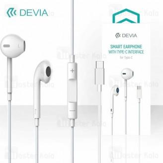 هندزفری سیمی طرح ایرپاد دیویا Devia EM048 EarPods با کانکتور Type-C