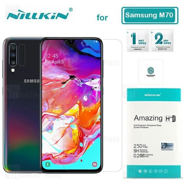محافظ صفحه شیشه ای نیلکین سامسونگ Samsung Galaxy A70 / A705 Nillkin H+ Pro + محافظ لنز