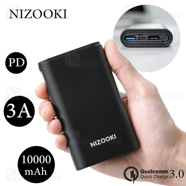پاوربانک 10000 فست شارژ نیزوکی Nizooki K10 Plus Quick Charge3.0 سه پورت
