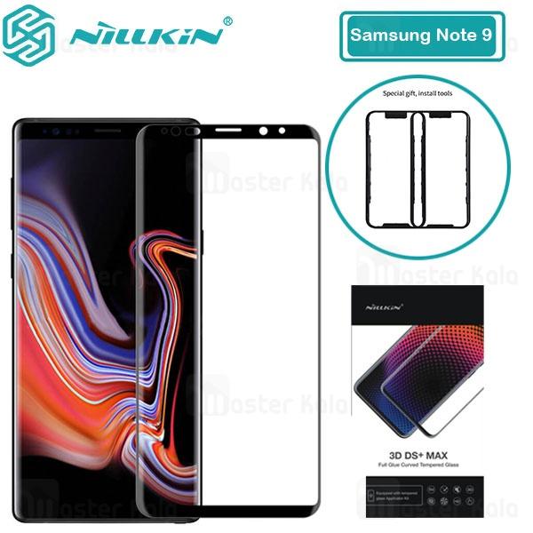 محافظ صفحه شیشه ای تمام صفحه تمام چسب نیلکین Samsung Galaxy Note 9 Nillkin 3D DS+ Max