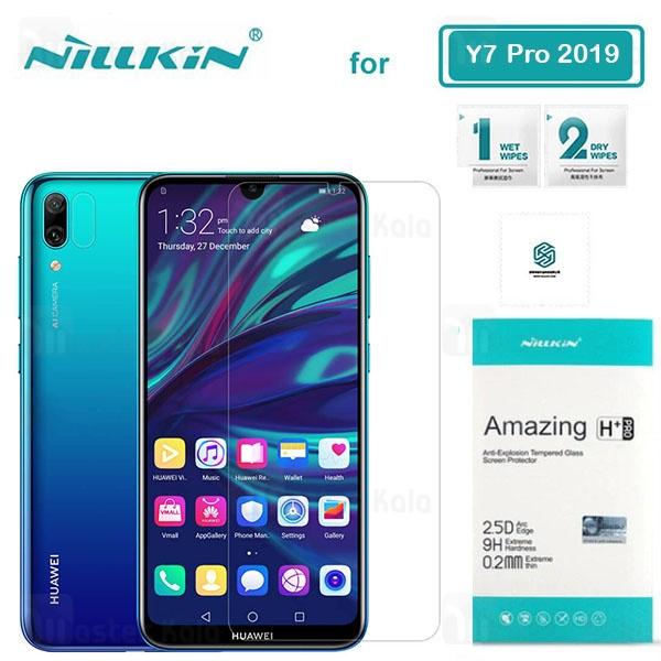 محافظ صفحه نمایش شیشه ای نیلکین Huawei Y7 Prime 2019 / Y7 2019 / Y7 Pro 2019 Nillkin H+ Pro