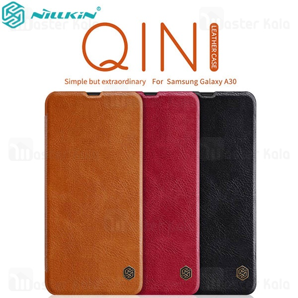 کیف چرمی نیلکین سامسونگ Samsung Galaxy A20 / A30 Nillkin Qin Leather Case