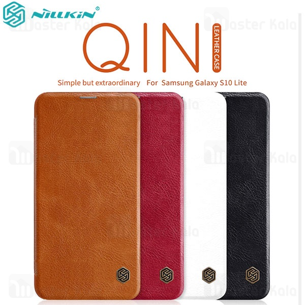 کیف چرمی نیلکین سامسونگ Samsung Galaxy S10e / S10 Lite Nillkin Qin Leather Case