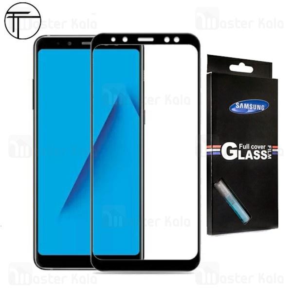 محافظ صفحه شیشه ای تمام صفحه تمام چسب TT سامسونگ Samsung Galaxy A8 Plus