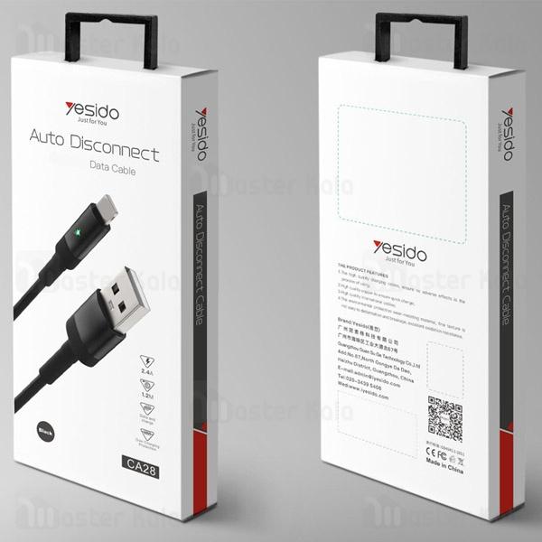کابل میکرو یو اس بی یسیدو Yesido CA28 Auto Disconnect 2.4A دارای قطع کن خودکار